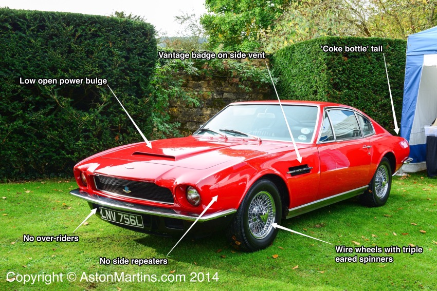 How to identify the 6 cylinder AM Vantage