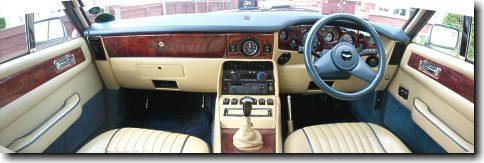 V8 Vantage interior